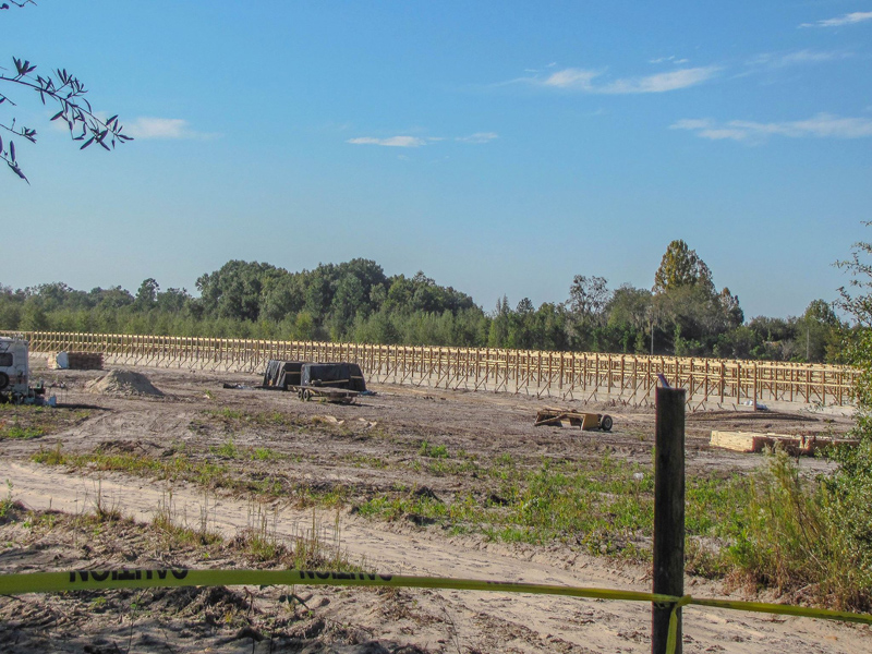 Chicken factory under construction in South Columbia County, photo by Laurie Goff