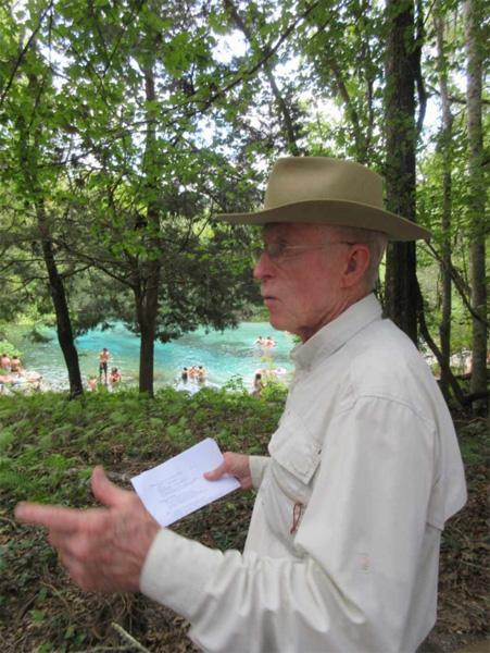 Jim Stevenson at the Headspring, photo by Bob Ulanowicz